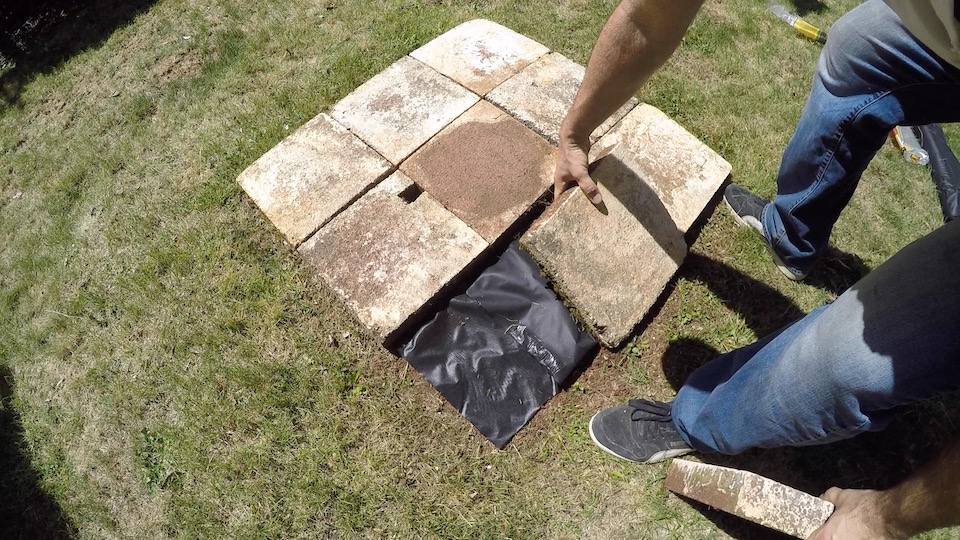 How to make a brick fire pit makeitnow for Materials needed to build a fire pit