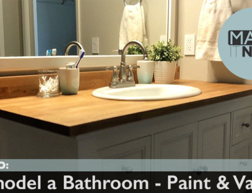 How To: Remodel A Bathroom – Paint & Vanity