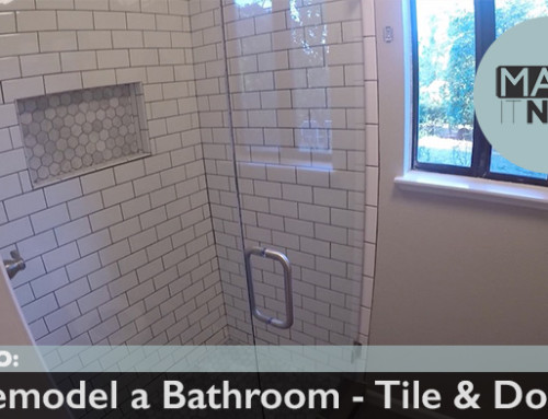 How To: Remodel A Bathroom – Tile & Door
